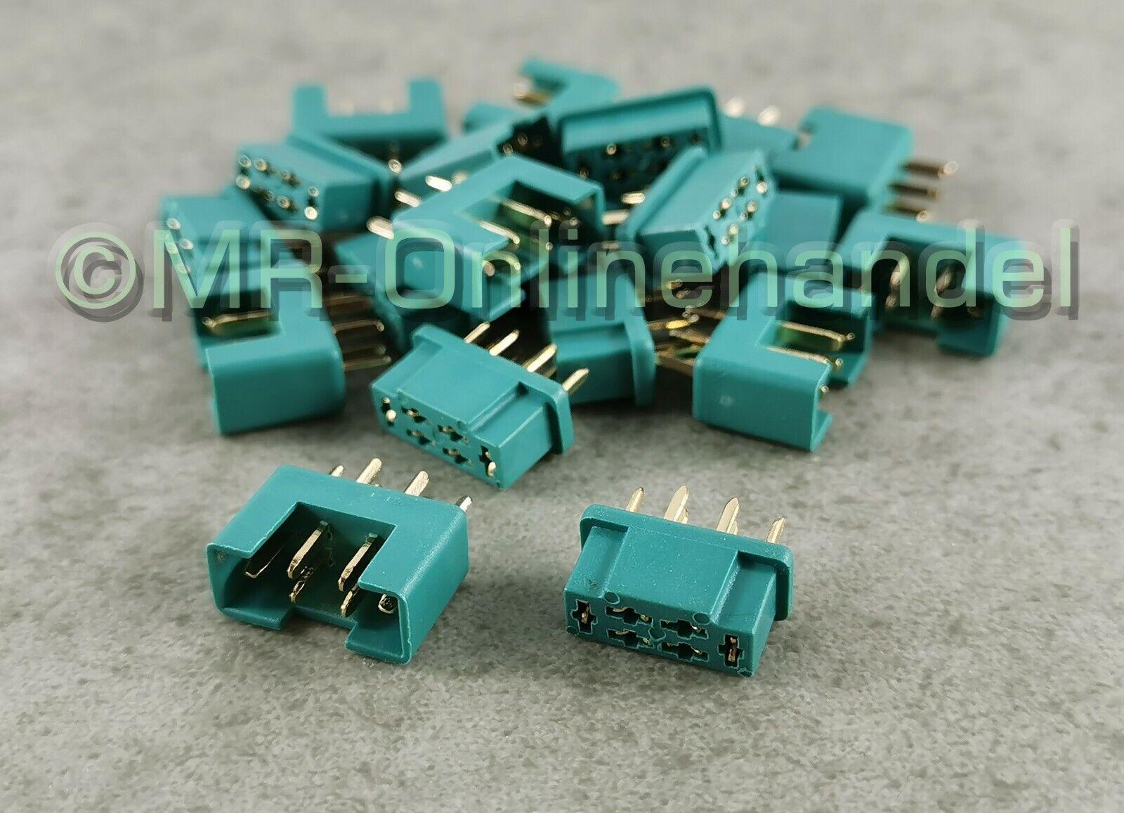 10 MPX 5 Paar MPX-Stecker 35A Gold Lipo Multiplex