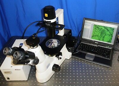 Nikon Ts-100 Inverted Fluorescence Phase Contrast Microscope