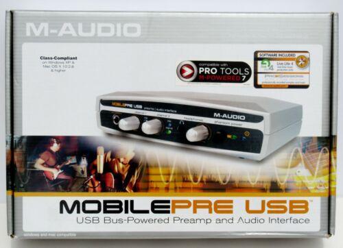 M-Audio MobilePre USB Preamp Portable Audio Interface 6-bit/48kHz Phantom Power