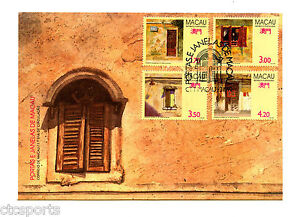 MACAU-1992-Paintings-of-Doors-Windows-Scott-663-666-FDC