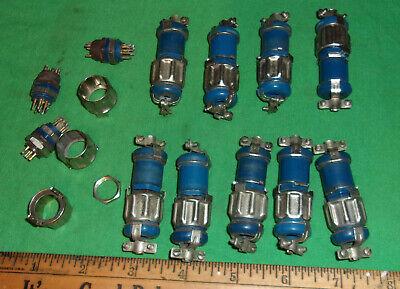 24 Various Amphenol 126 Series Hex Connectors Nos