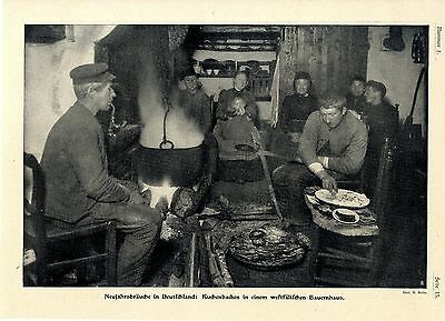 Neujahrsbräuche Deutschland Kuchenbacken in einem westfälischen Bauernhaus 1907 - Deutschland-kuchen