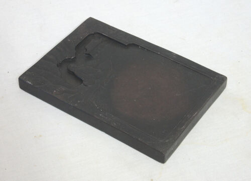 Chinese  Carved  Black  Ink  Stone   1