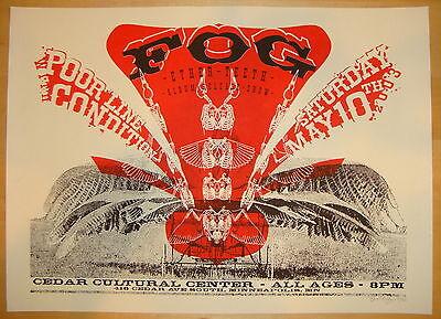 2003 Fog - Minneapolis Silkscreen Concert Poster S/N by Burlesque of N America