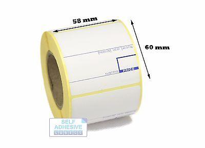 CAS compatible Scale labels, 58mm x 60mm , 40 Rolls, 20,000 Labels. FREE P&P!