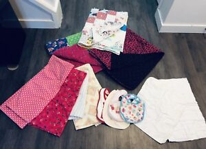 Baby Girl Linens Lot 3 (mostly handmade!)