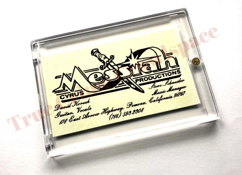 David Koresh Business Card In Case * RP