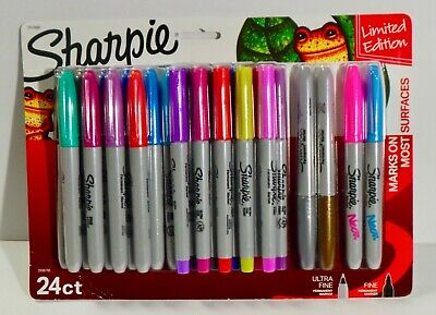 Sharpie Permanent Marker Multi Color Set Of 24 Limited Edition
