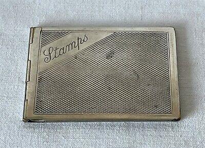 Vintage Art Deco Metal Stamp Booklet Wallet Holder / Case c1933-1934