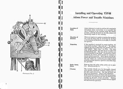 Adana TP48 PRINTING PRESS INSTRUCTION MANUAL OPERATORS MANUAL PDF