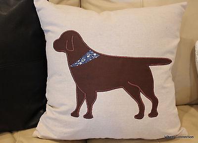Dog Brown Throw Pillow Cover Designer Beautiful Home Bandana Accent Labador 18  ()
