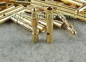 40x ( 20 Paar ) Stecker + Buchse Goldkontaktstecker Goldstecker 2mm Lipo Akku