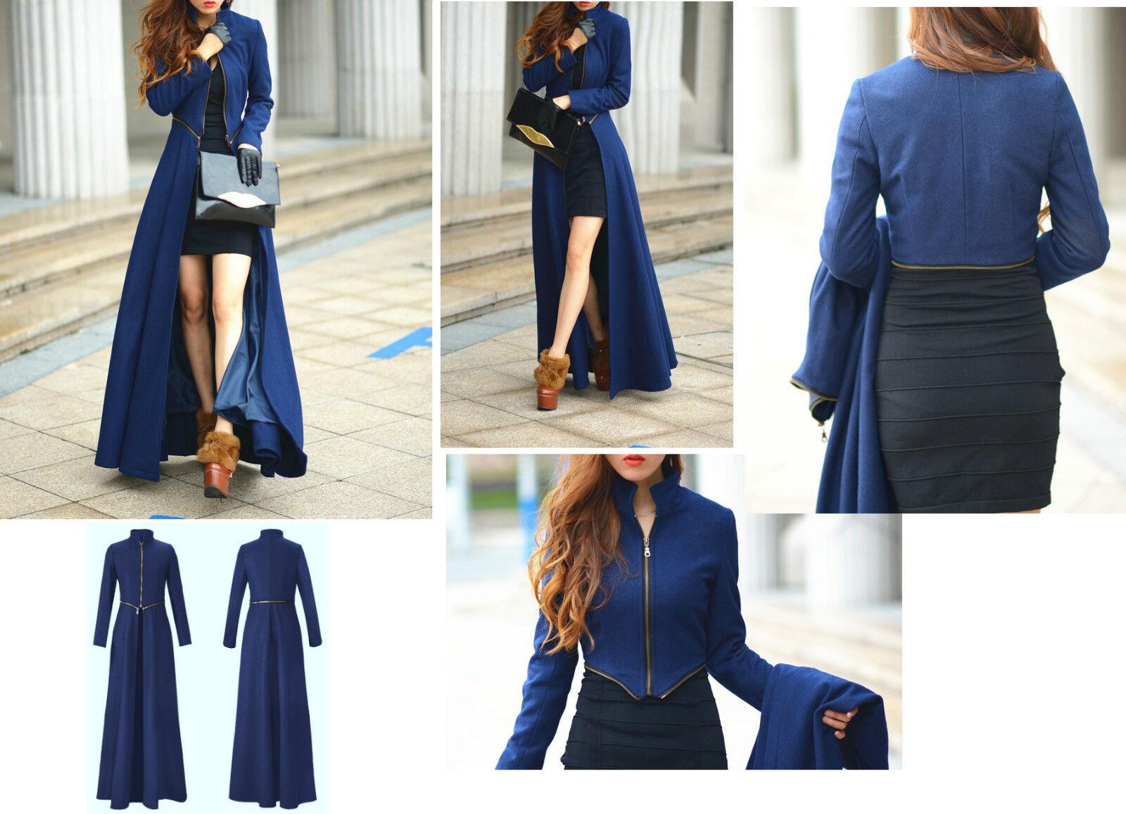 Dettagli su Cappotto Lungo o Giacca Corta Donna Woman Long Coat or Short Jacket 0502001 P