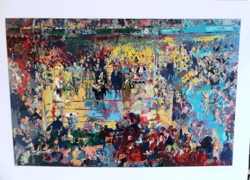 Leroy Neiman Introduction Of The Champions Madison Square Garden Hs/# Serig. Nyc