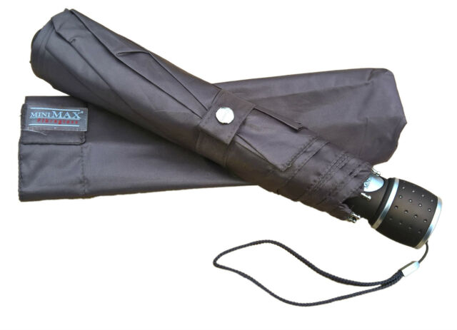 Automatic Compact Umbrella - Wind Resistant Windproof Fibreglass Ribs -Cool Grey