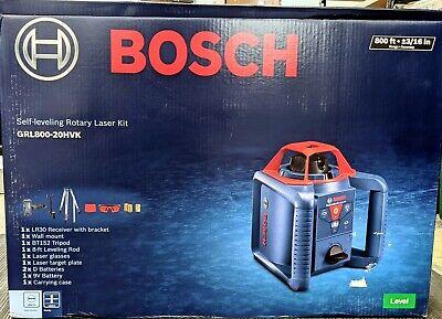 Brand New Bosch Grl800-20hvk Self Leveling Rotary Laser Kit - Free Shipping