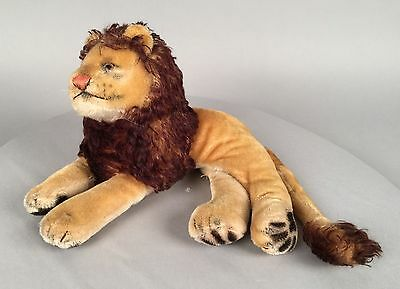"Vintage 1950's 14"" Steiff Leo Lion Stuffed Animal - Mohair"