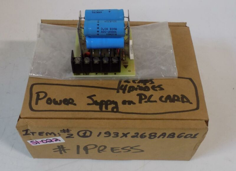 GENERAL ELECTRIC RECTIFIER BOARD 193X268ABG01