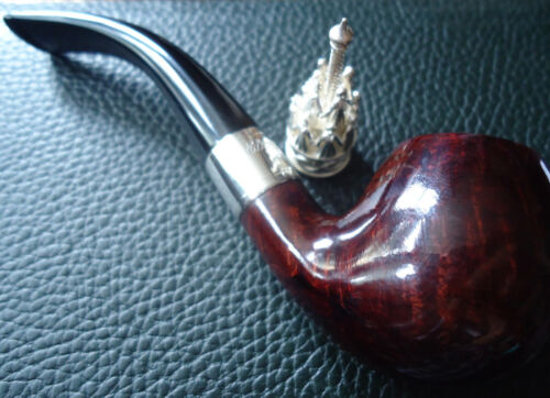 Dunhill Christmas Pipe 2003 - Limited Edition - 925 Silver Collar & Pipe Tamper