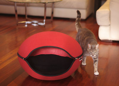 Pet Bed Pod Cat Dog Cave Red