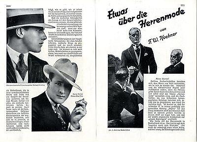 Etwas über über die Herrenmode ( der 20er - 20er Jahre Mode Herren