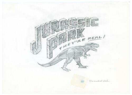 Michael Salisbury Hand Drawn Jurassic Park Sketch