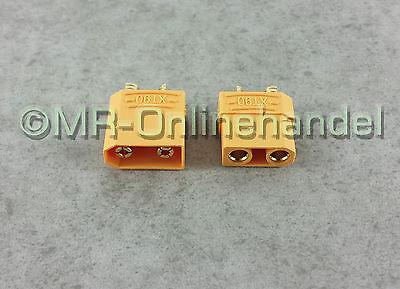 1 Paar ( 2 Stück ) Nylon XT90 Hochstrom Goldstecker Stecker + Buchse Lipo Akku