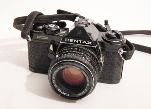 Pentax ME Black Body 35mm SLR w/ Pentax-M 50mm f/2 Lens