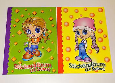 2 x A5 Stickeralbum Stickerheft Sticker Sammel Album NEU Aufkleber Leer Bunt