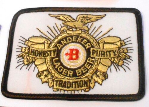 "Andeker Beer Embroidered Patch  4-1/4"" inches   Made in USA"