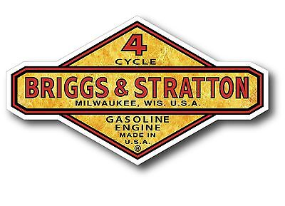 Gold Foil Look Vintage Briggs Stratton Gasoline Oil Gas 5 X 3 Sticker Decal
