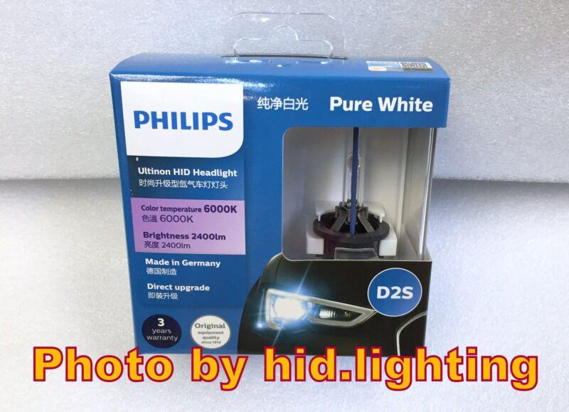 Genuine Philips 6000K Ultinon Flash White D2S XenStart HID XENON Bulb lamp light