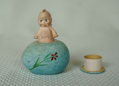 "RARE Composition/Paper Mache Kewpie Doll on Easter Candy Container ""Rose O"