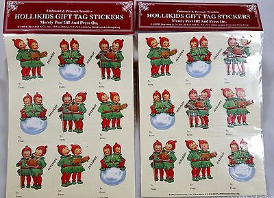 Retro 1930s HOLLIKIDS Gift Tag 18 STICKERS Christmas NEW Vintage art Children  - Gift Tag Stickers