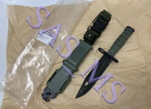 USGI ONTARIO KNIFE CO M9 BAYONET KNIFE & SCABBARD WIRE CUTTER NEW