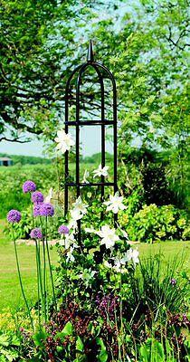 Gardman Classical Metal Garden Obelisk 2m High - Climbing Plant Support