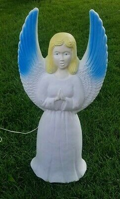 "Vintage 30"" Union Products Christmas Holiday Nativity Lighted Angel Blow Mold"