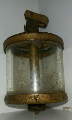 Detroit Lubricator Co. Model 603 Oiler Brass W Glass Cup Pat 3-30-15 1930s