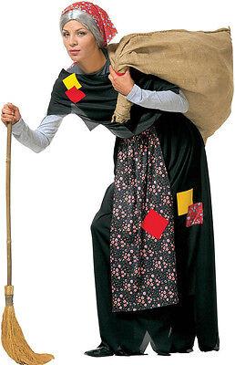 Alte Oma Kostüme (Alte Frau Oma Kostüm im Hexen-Style NEU - Damen Karneval Fasching Verkleidung Ko)