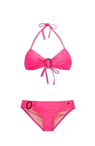 PROTEST Bandeau-Bikini knallige Damen Bademode Schwimmode Neckholder B-Cup Pink