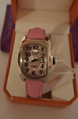 Activa Woman's Watch Analog PINK Genuine Leather Band Swiss Movment Water Resist