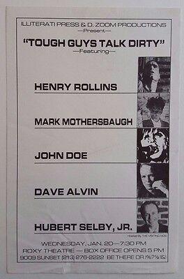 Henry Rollins/Mark Mothersbaugh/John Doe Original Flyer 1988 Black Flag Devo X