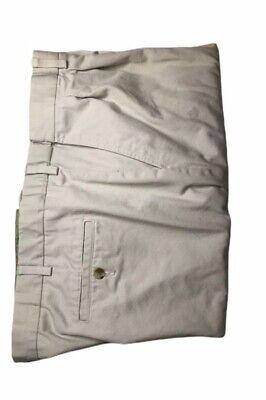 Roundtree & Yorke Pleated Men's Khaki Extended Waist Pants Size 48x30. EUC.