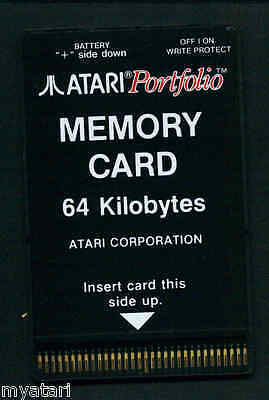 Atari/Roland/Korg Portfolio 64K Memory RAM Disk Card NEW Card With New Battery