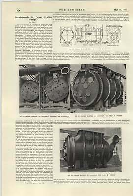 Power Station Capacitor - 1922 English Electric Two Shell Condenser For Rotherham Powerstation