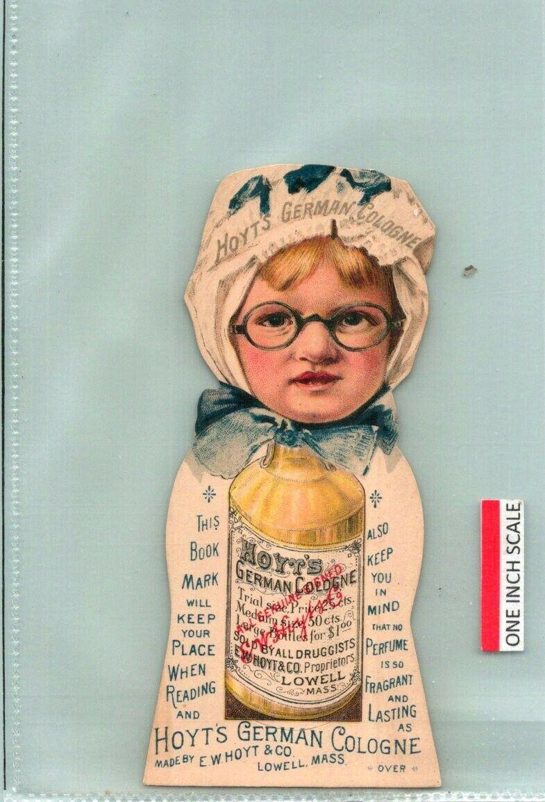 C53-4037, HOYT S GERMAN COLOGNE, DIE-CUT, 1880-90S VICTORIA TRADE CARD. - $2.42