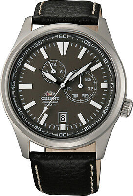 Orient FET0N002K Men's Defender Leather Band Multifunction Automatic Watch