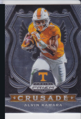 2020 PANINI PRIZM NCAA DRAFT PICKS ALVIN KAMARA CRUSADE INSERT NO. 15 SAINTS