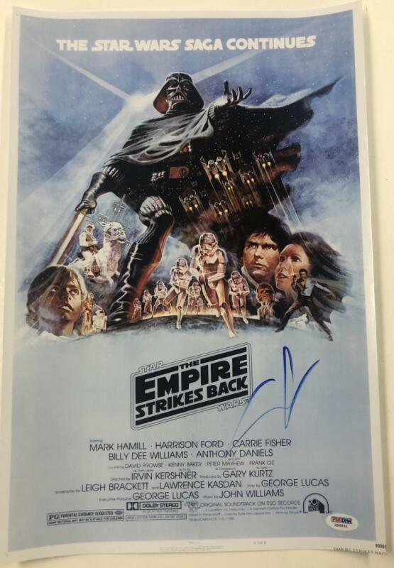 GEORGE LUCAS SIGNED STAR WARS THE EMPIRE STRIKES BACK 12X18 PHOTO AUTOGRAPH PSA
