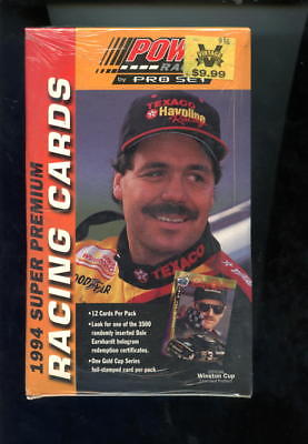 1994 Pro Set Power Racing Race Car Trading Card Set Wax Pack Box Winston Cup
